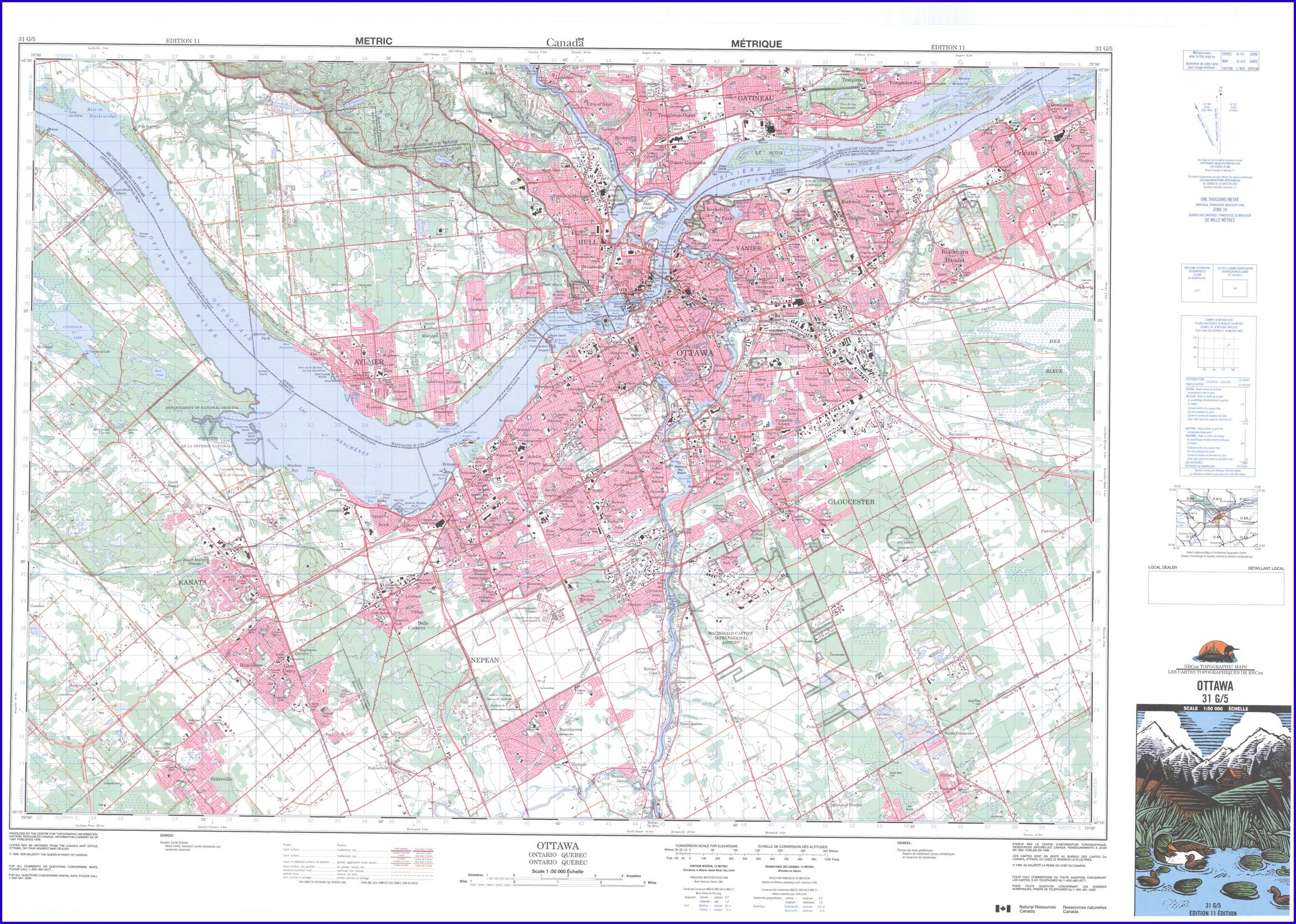 Ontario Topographic Maps For Sale