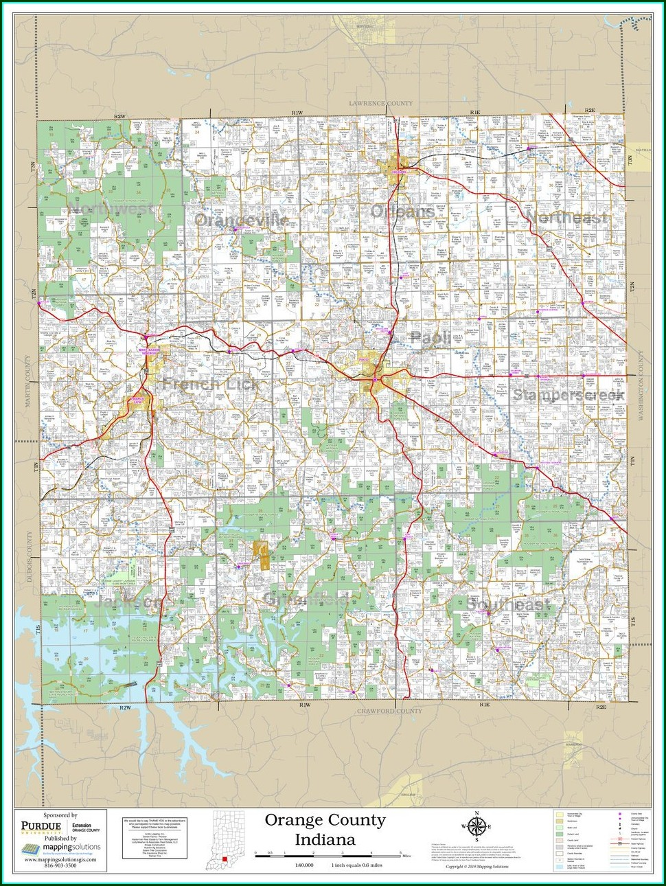 Orange County Indiana Plat Maps