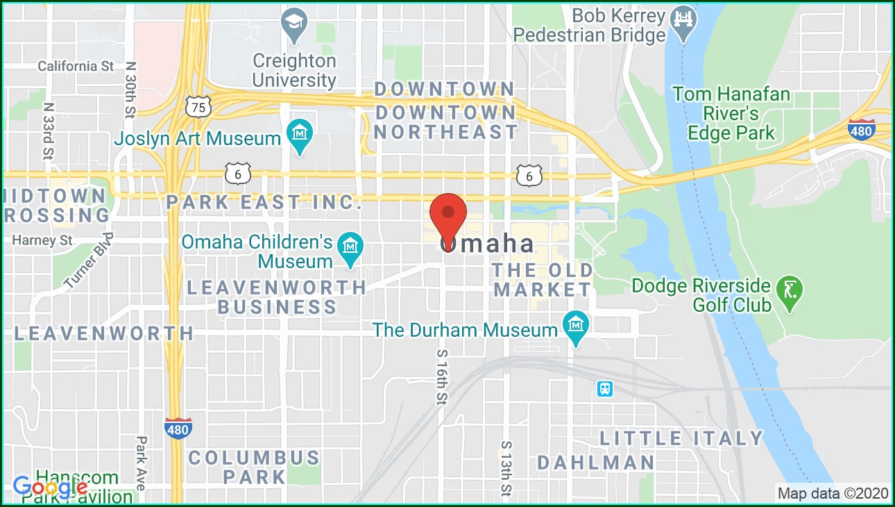 Orpheum Theater Omaha Map