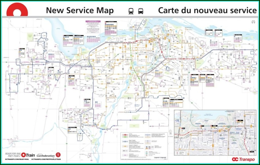 Ottawa Bus Routes Map