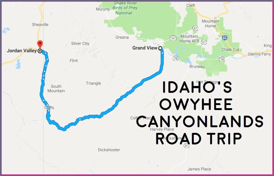 Owyhee Canyonlands Idaho Map
