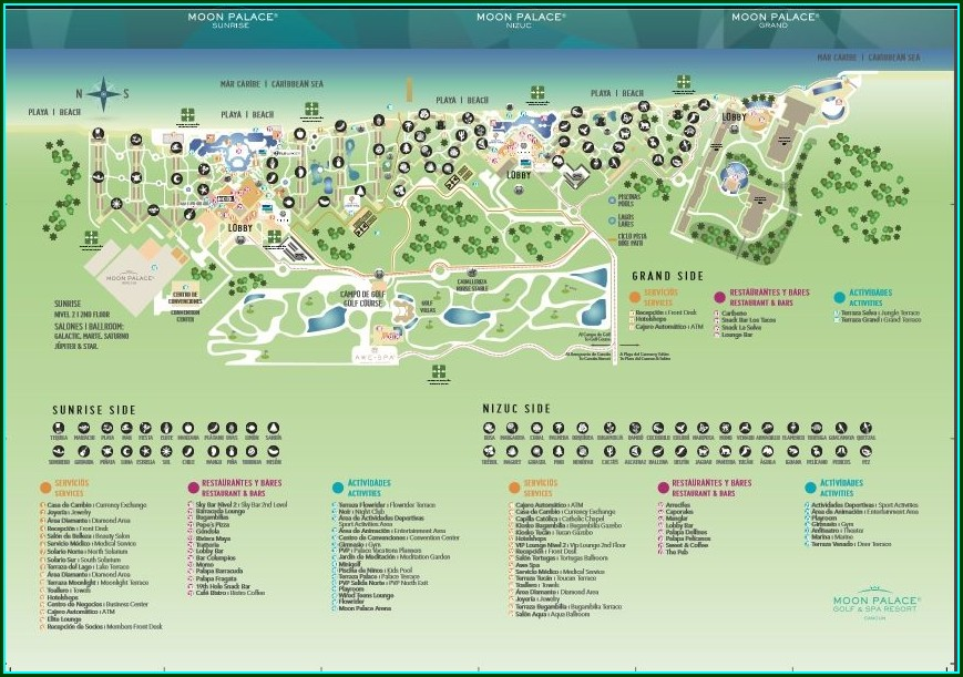 Palace Resorts Cancun Map