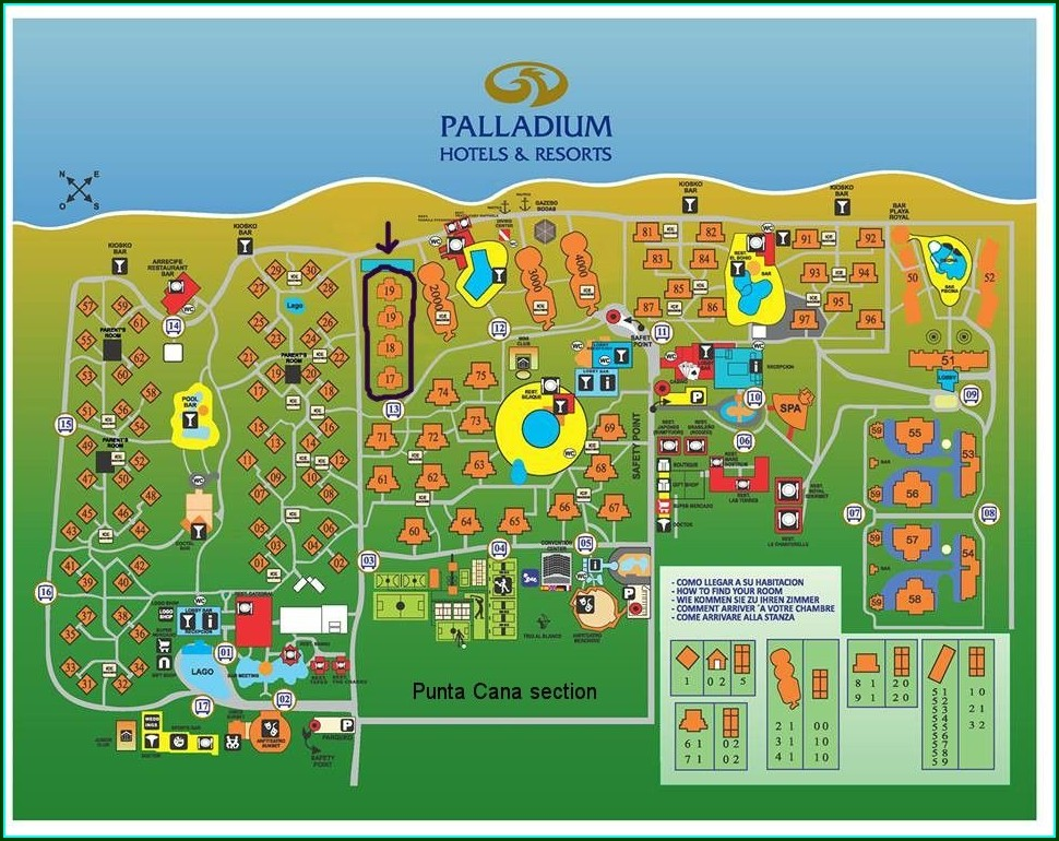 Palladium Punta Cana Resort Map