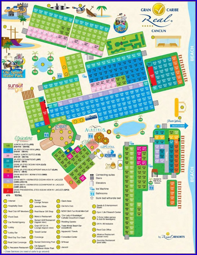 Panama Jack Cancun Resort Map
