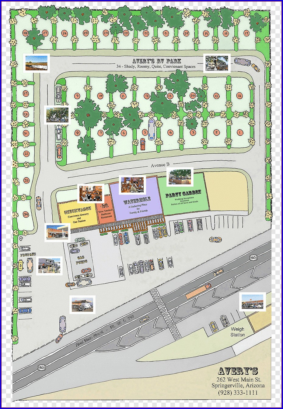 Paragon Casino Rv Park Map