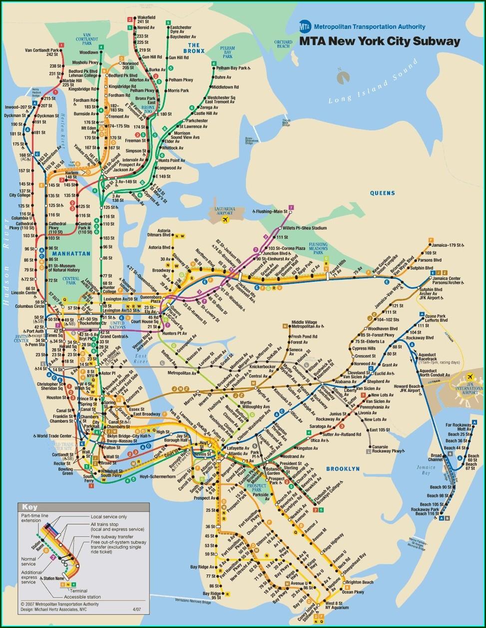 Pdf Nyc Mta Subway Map