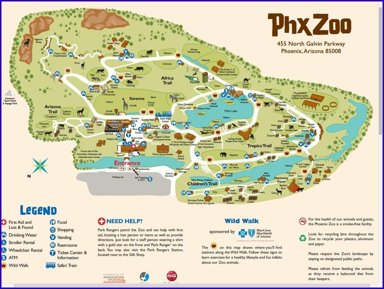 Pdf Phoenix Zoo Map