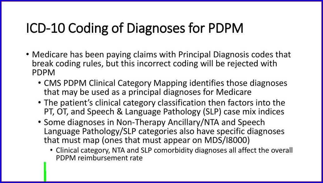 Pdpm Clinical Category Mapping