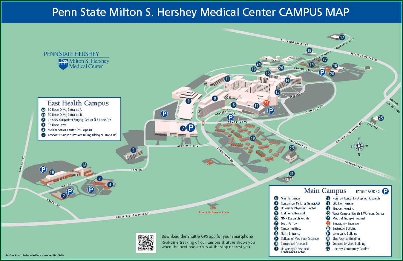 Penn State Hershey Campus Map