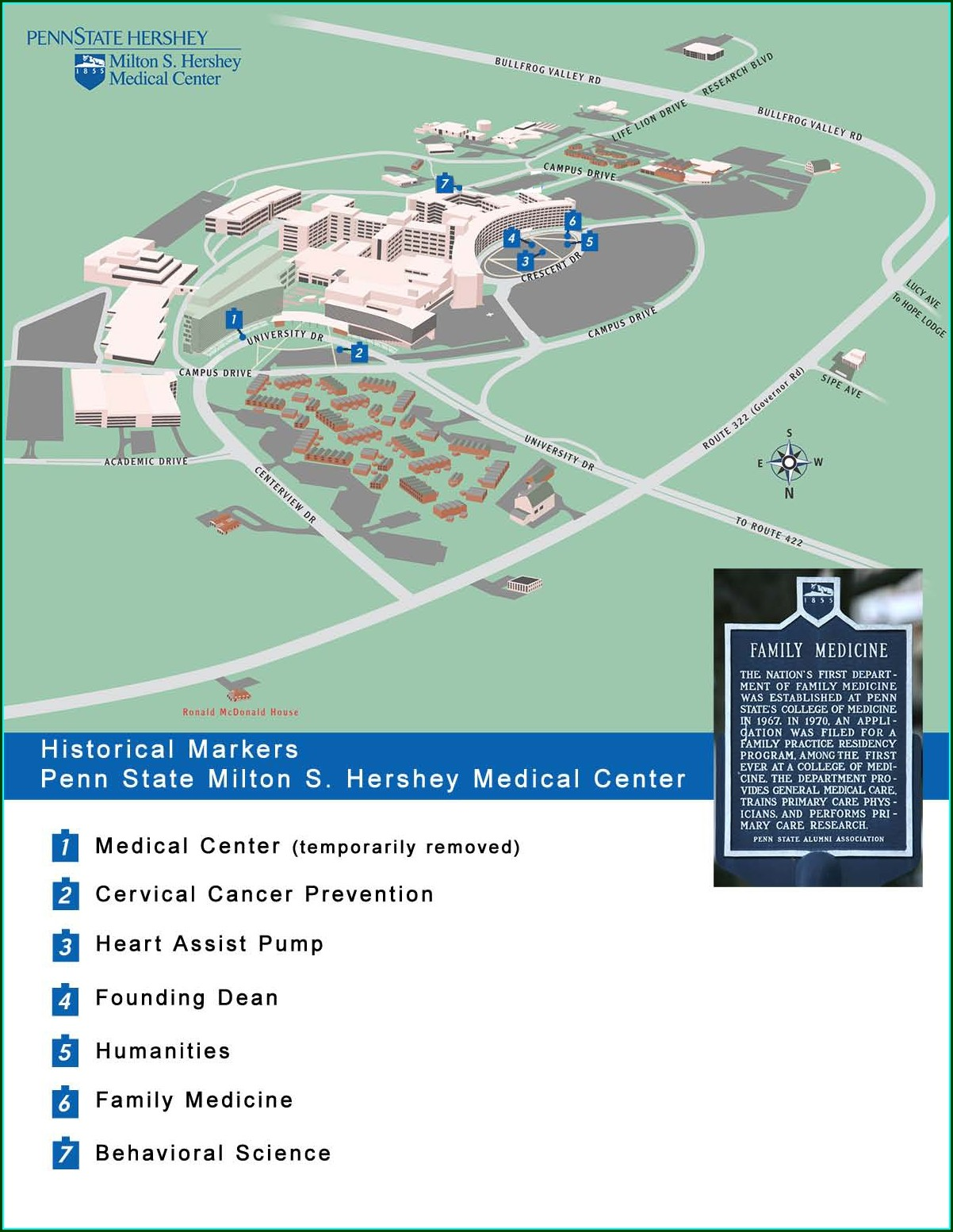 Penn State Hershey Medical Center Campus Map