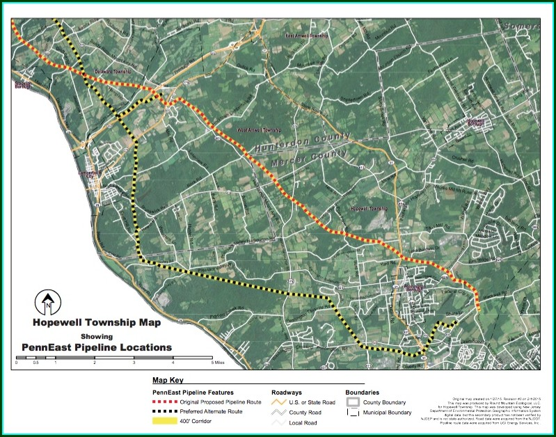 Penneast Pipeline Hunterdon County Map