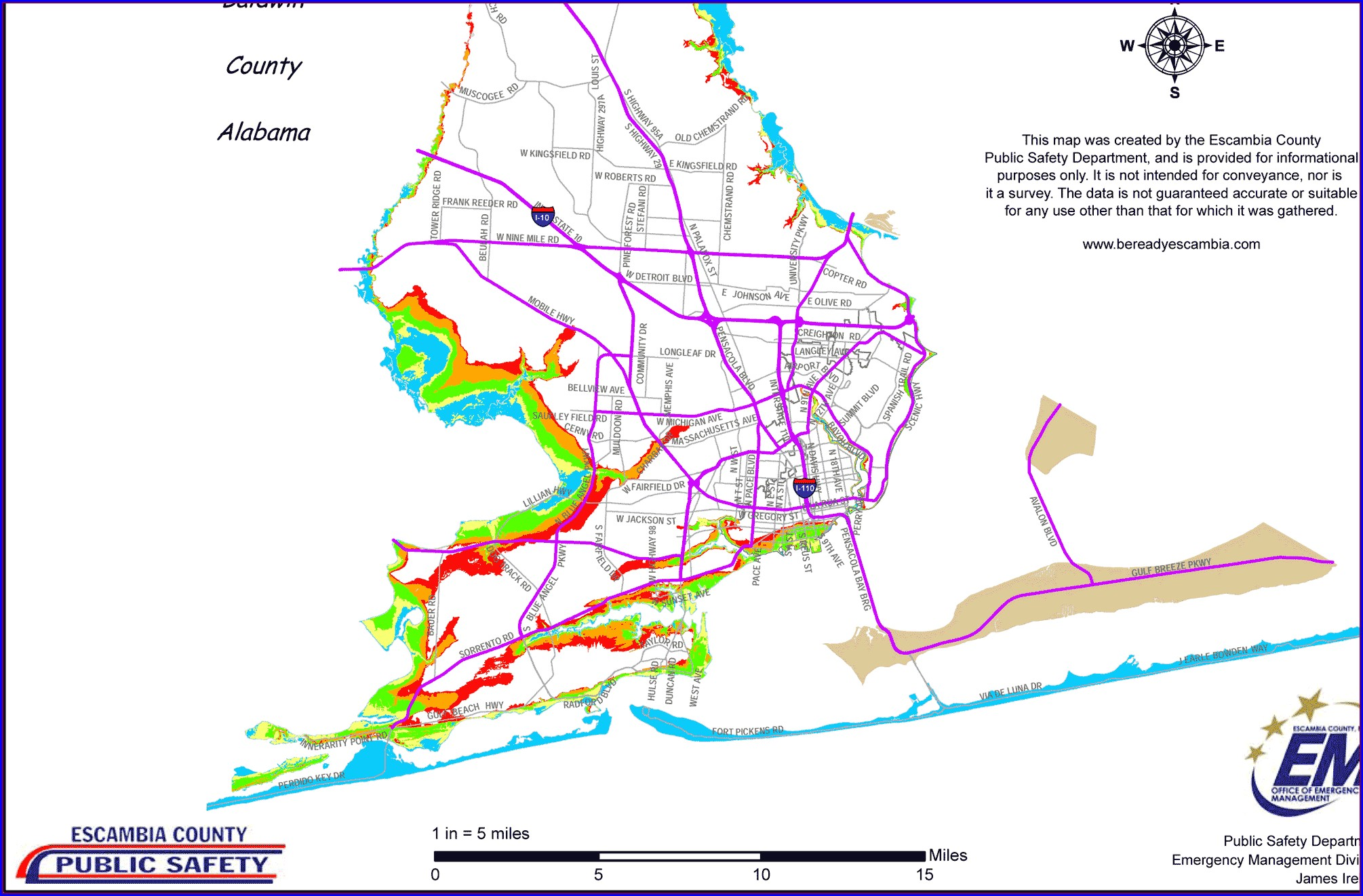 Pensacola Flood Zone Map