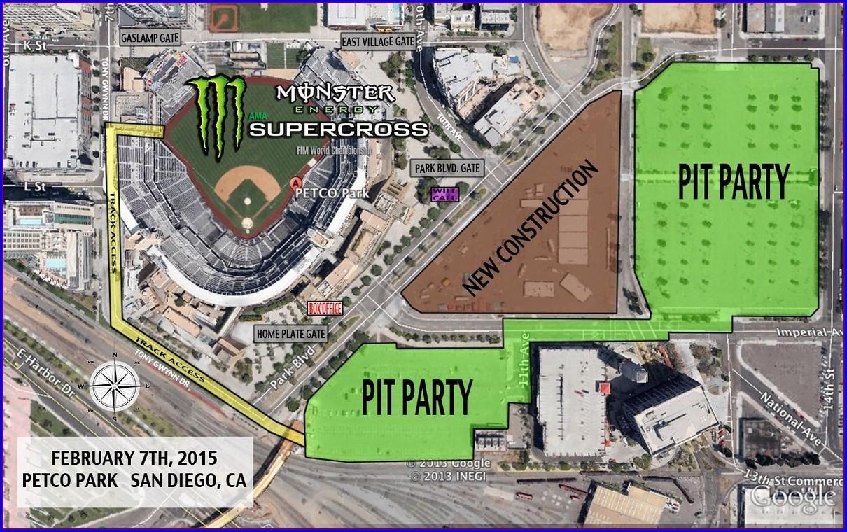 Petco Park Entrance Map