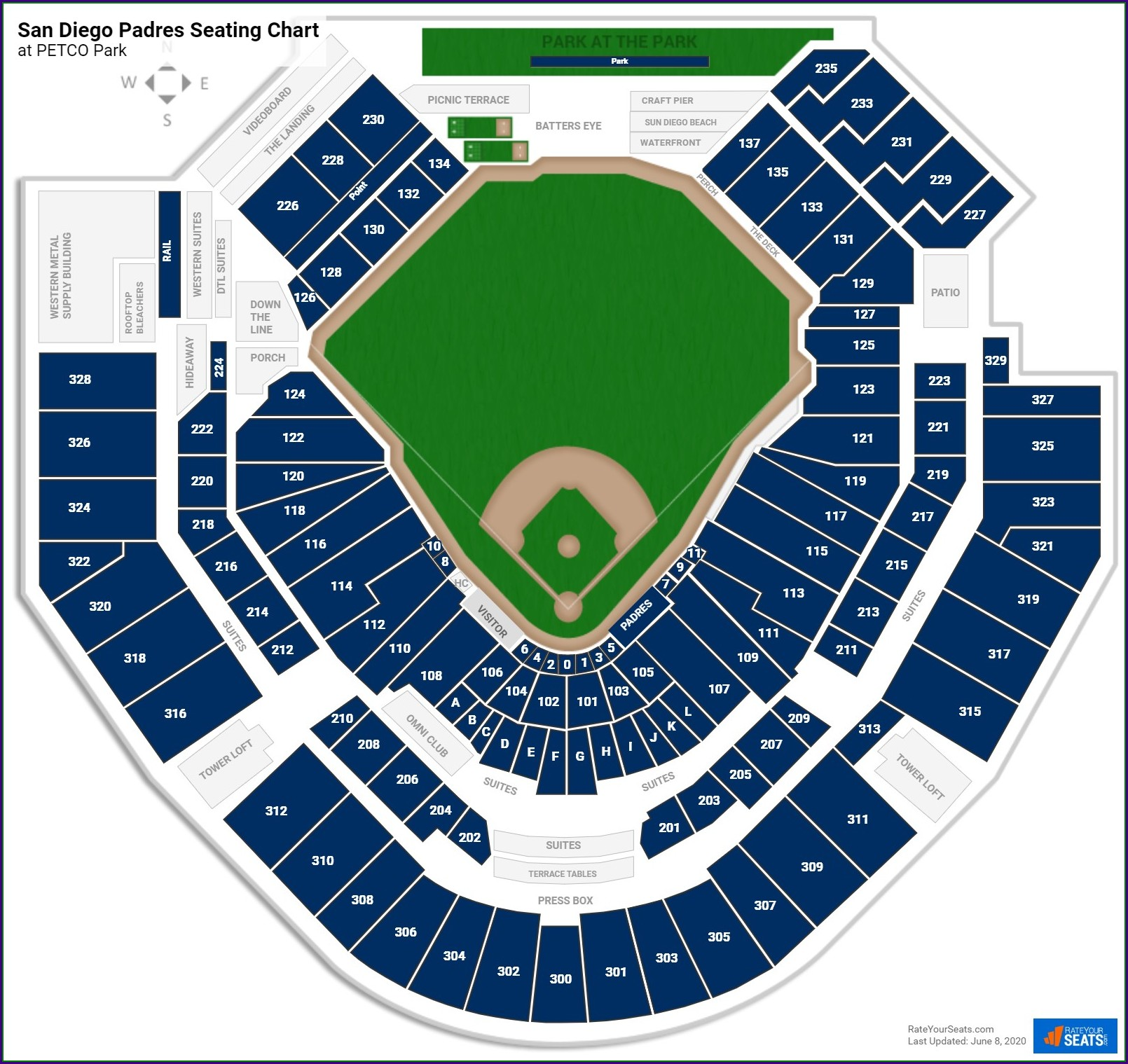 Petco Park Interactive Map