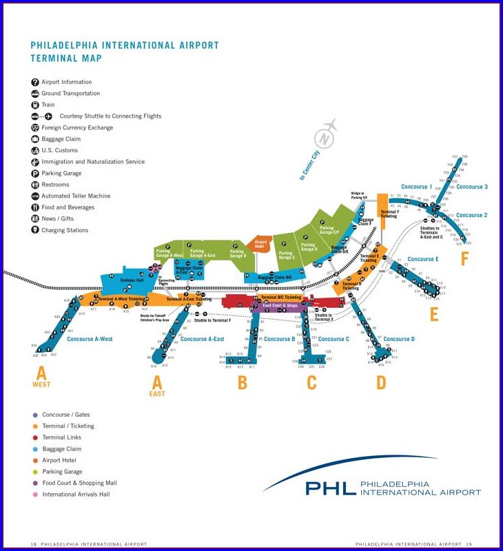 Philadelphia Airport Hotels Map
