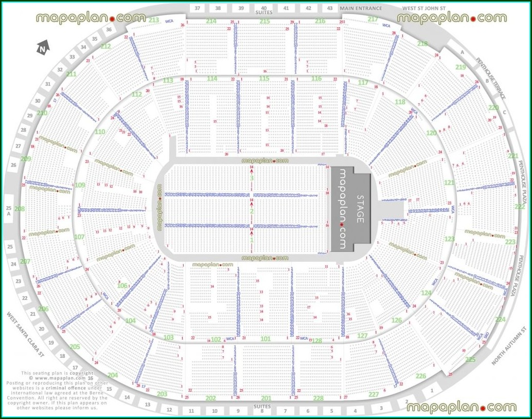 Philips Arena Map Rows