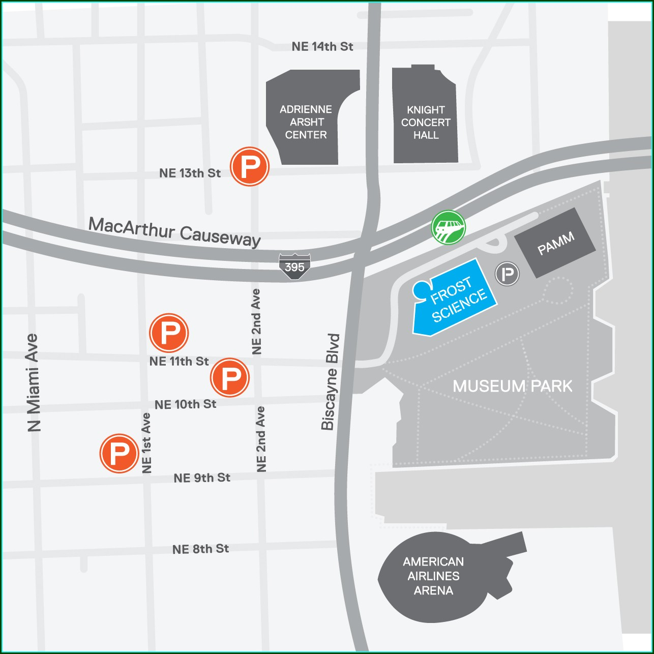 Philips Arena Parking Map