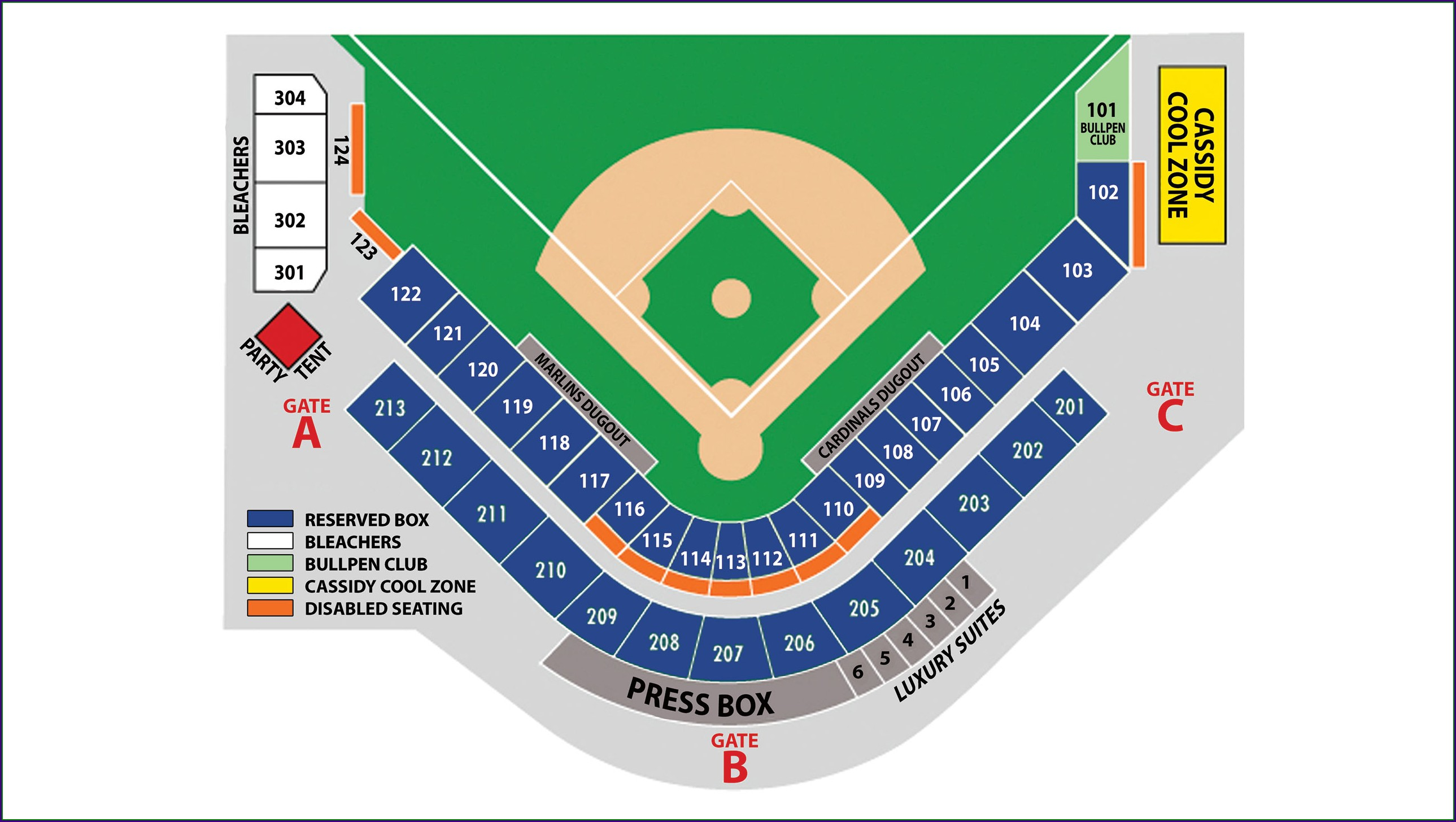 Phillies Spring Training Stadium Map