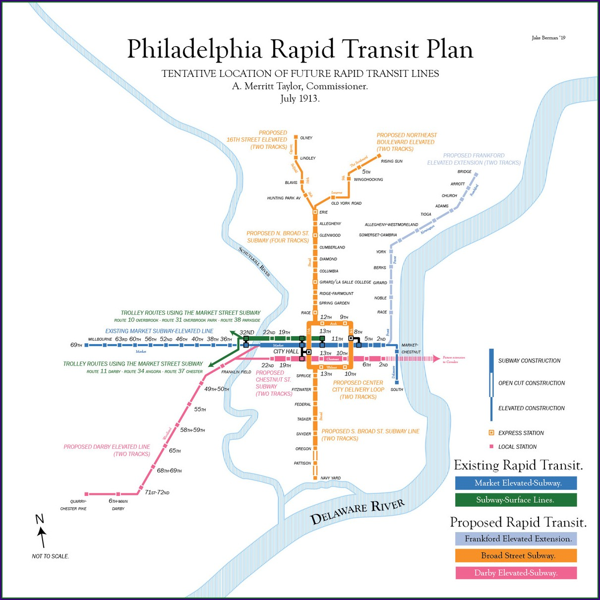 Philly Public Transit Map