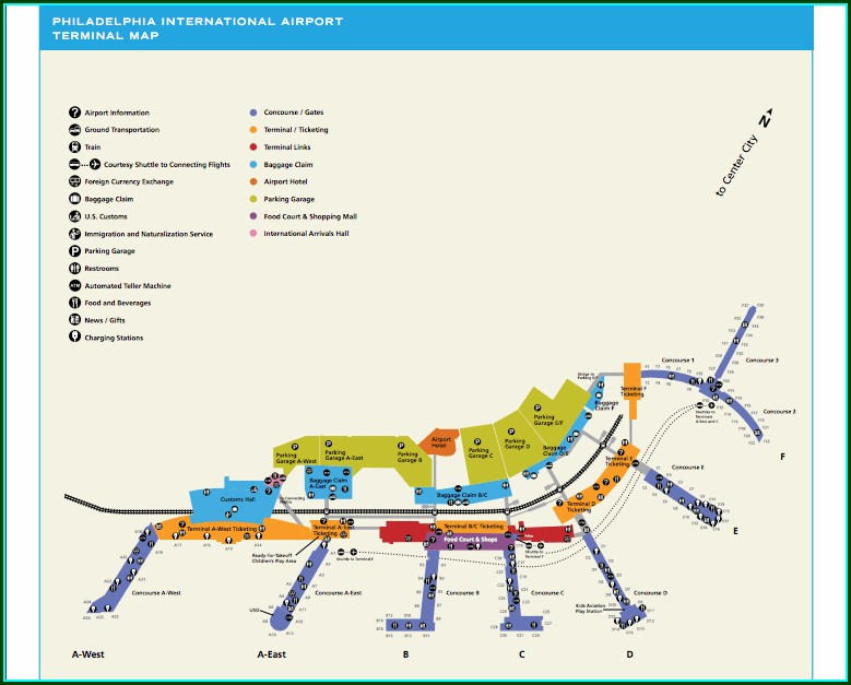 Phl Airport Parking Map