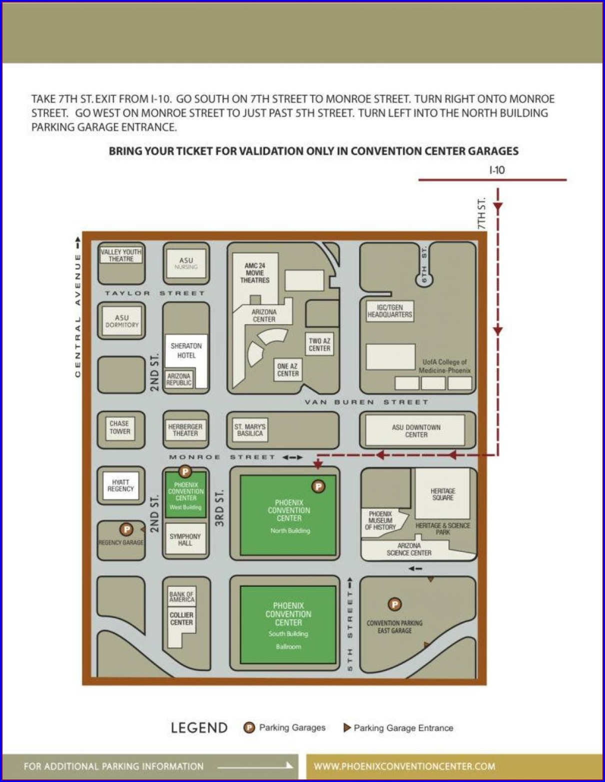 Phoenix Convention Center Hotels Map