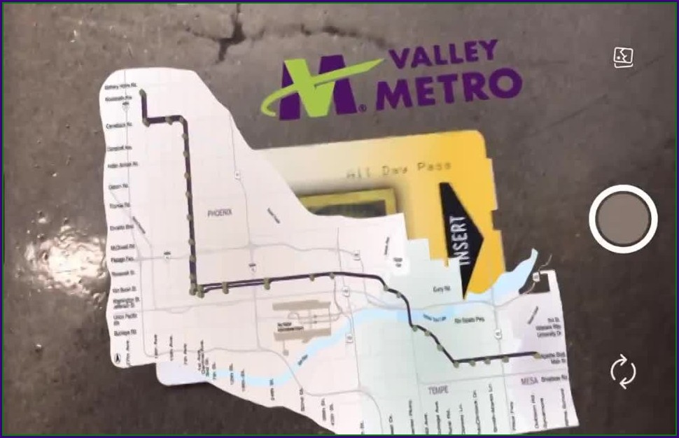 Phoenix Valley Metro Light Rail Map