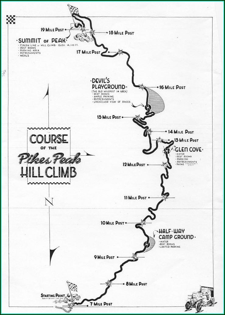 Pikes Peak Parking Map