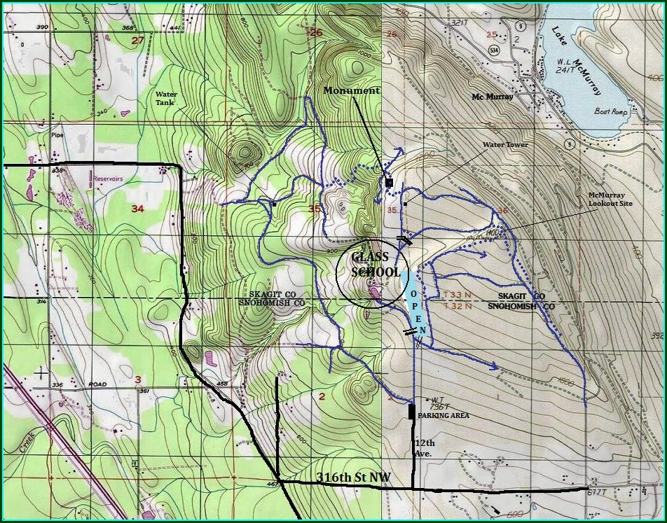 Pilchuck Tree Farm Trail Map