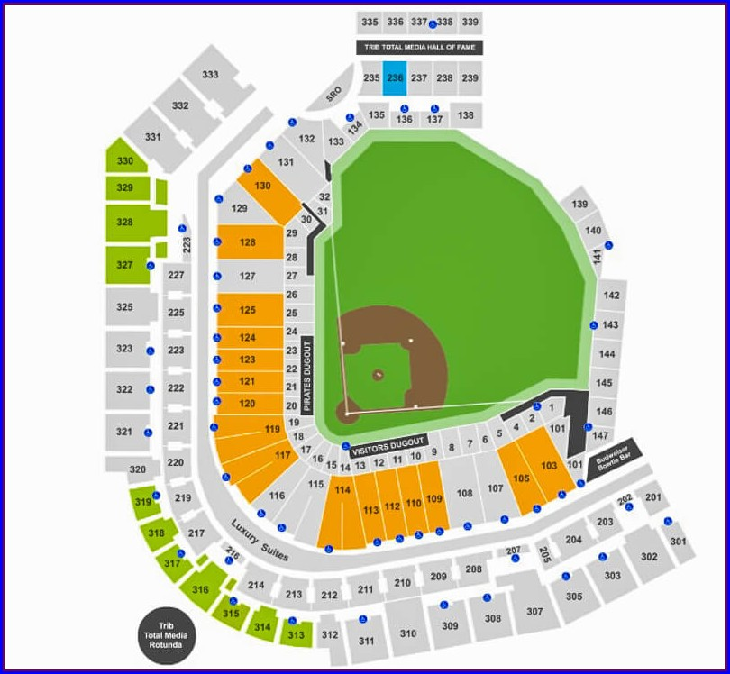 Pirates Seating Chart Map