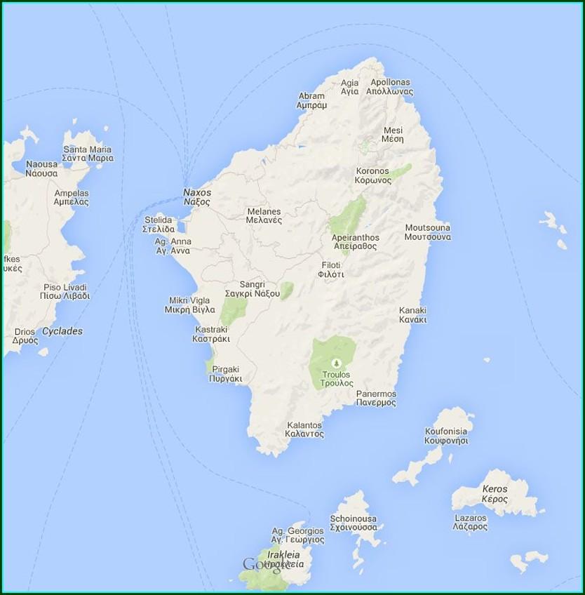 Plaka Beach Naxos Map