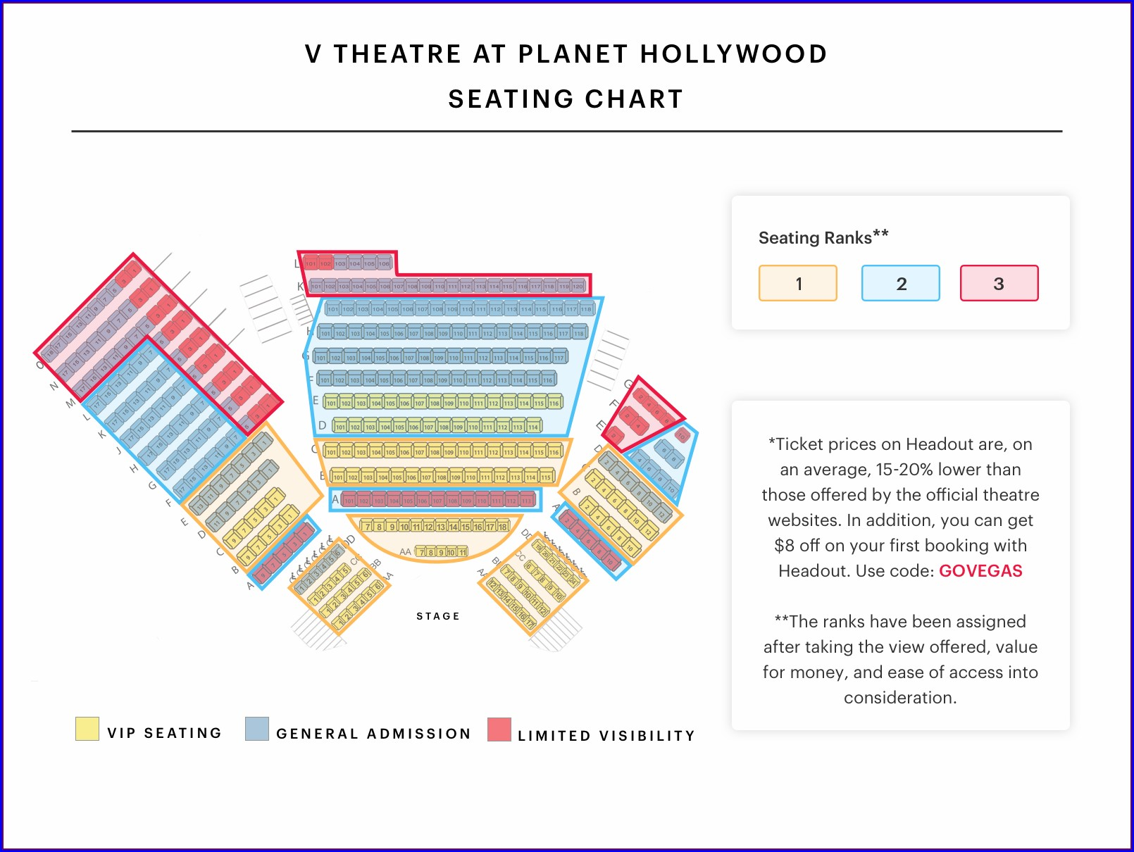 Planet Hollywood Las Vegas Stage Map
