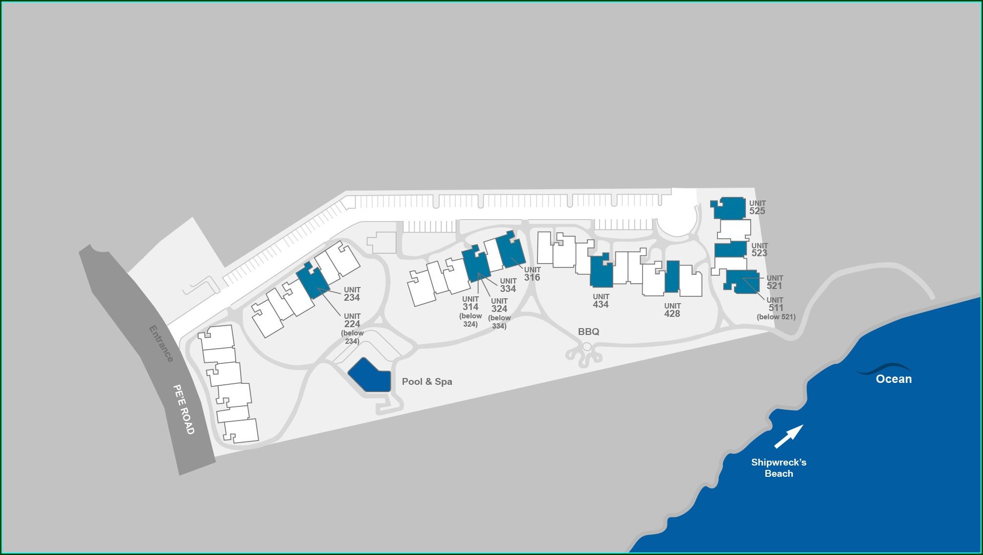 Poipu Sands Resort Map