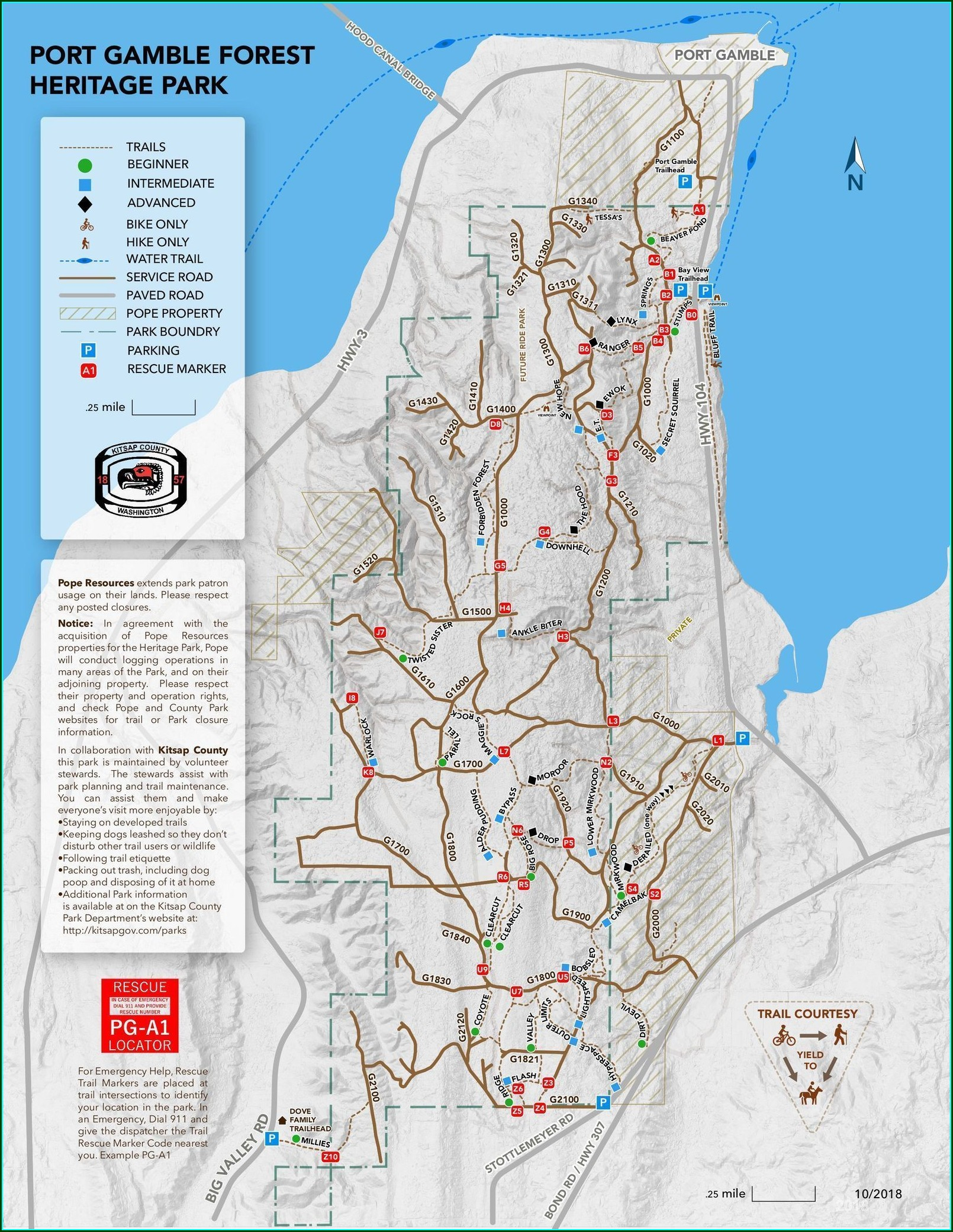 Port Gamble Trail Map