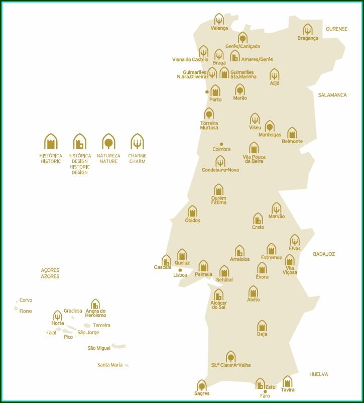 Pousadas De Portugal Mapa