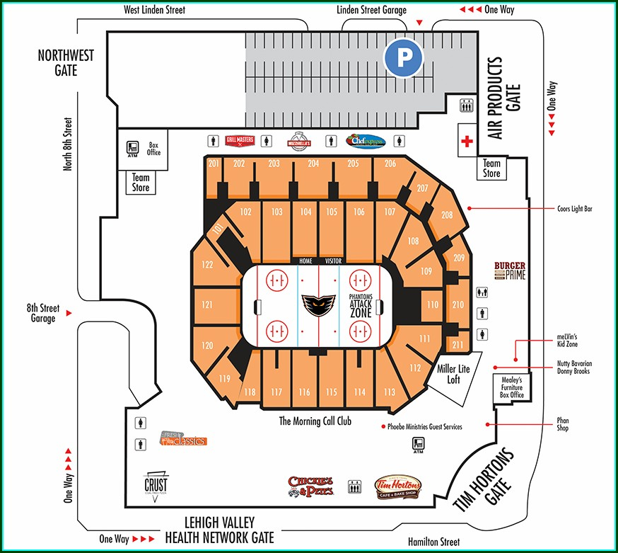 Ppl Center Arena Map