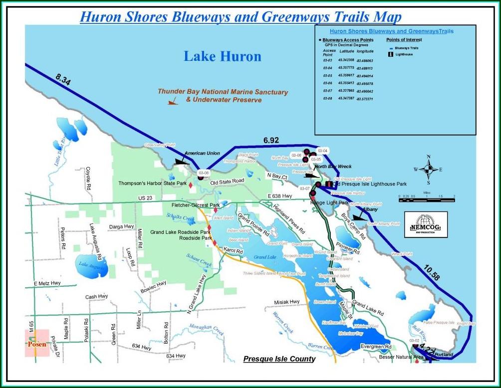 Presque Isle Bay Fishing Map