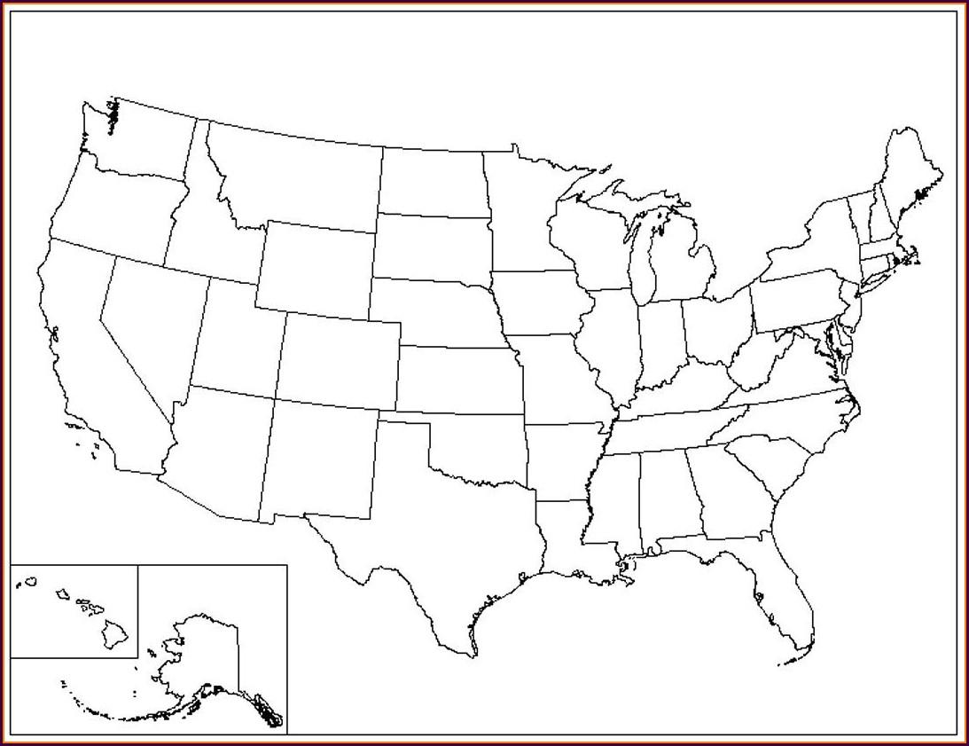 Printable Blank Us Map Pdf