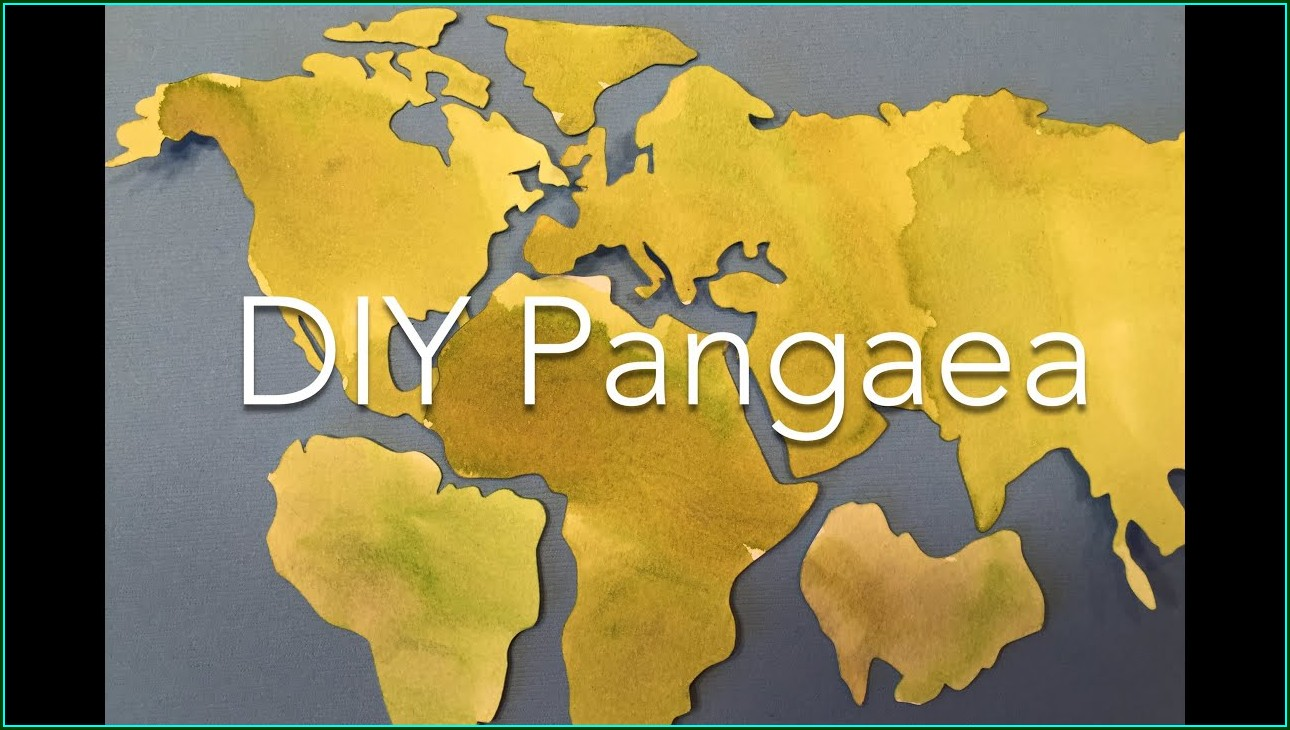 Printable Cut Out Pangea Map