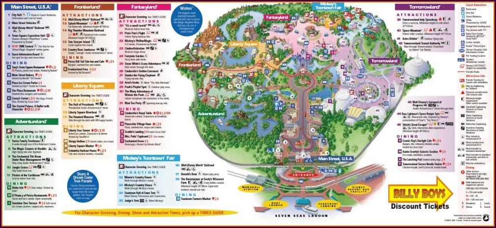 Printable Disney World Park Maps