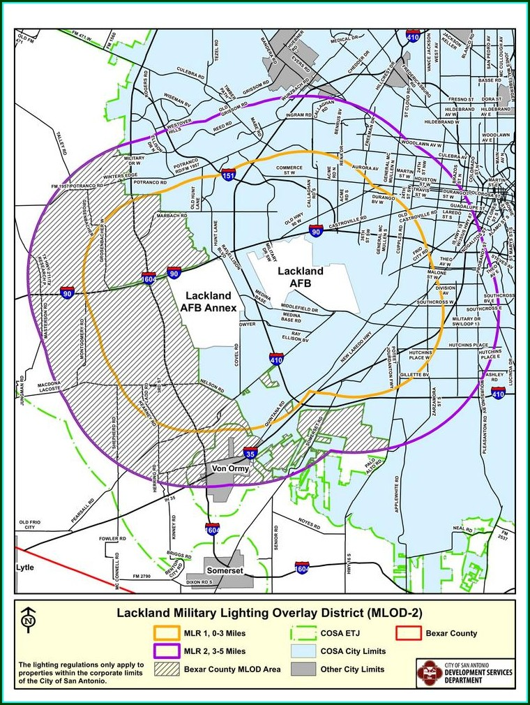 Printable Map Of Lackland Afb