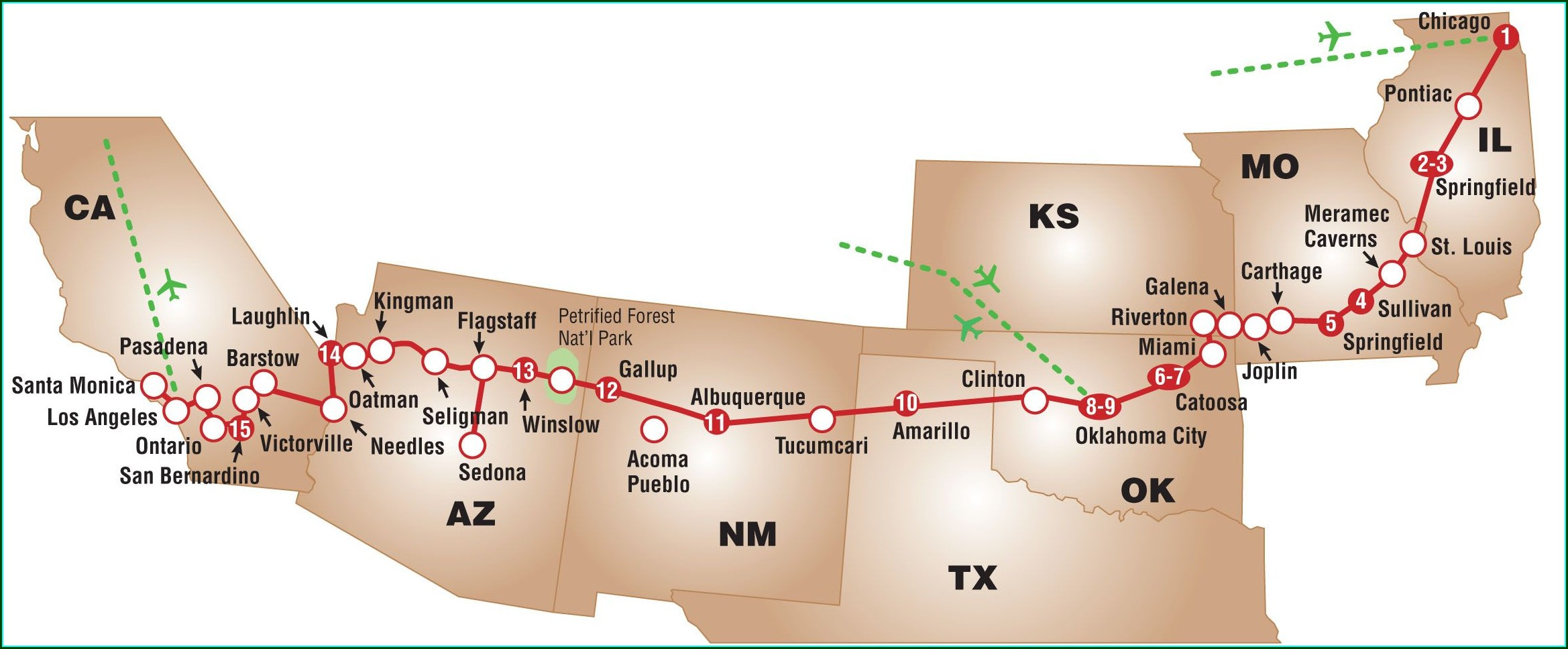 Printable Old Route 66 Map