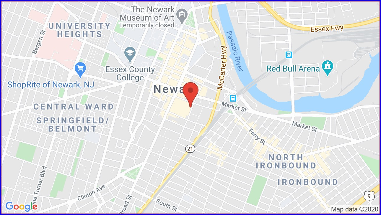 Prudential Center Map Newark