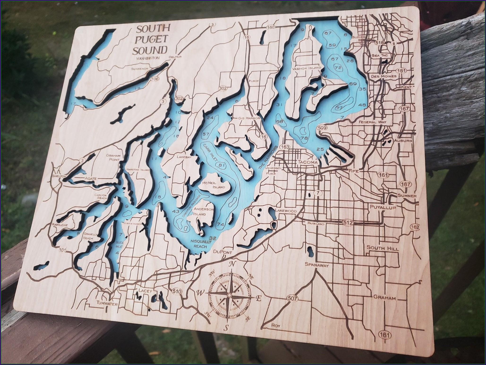 Puget Sound Topographic Map