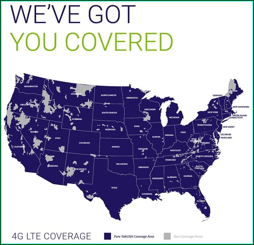 Pure Talkusa Coverage Map
