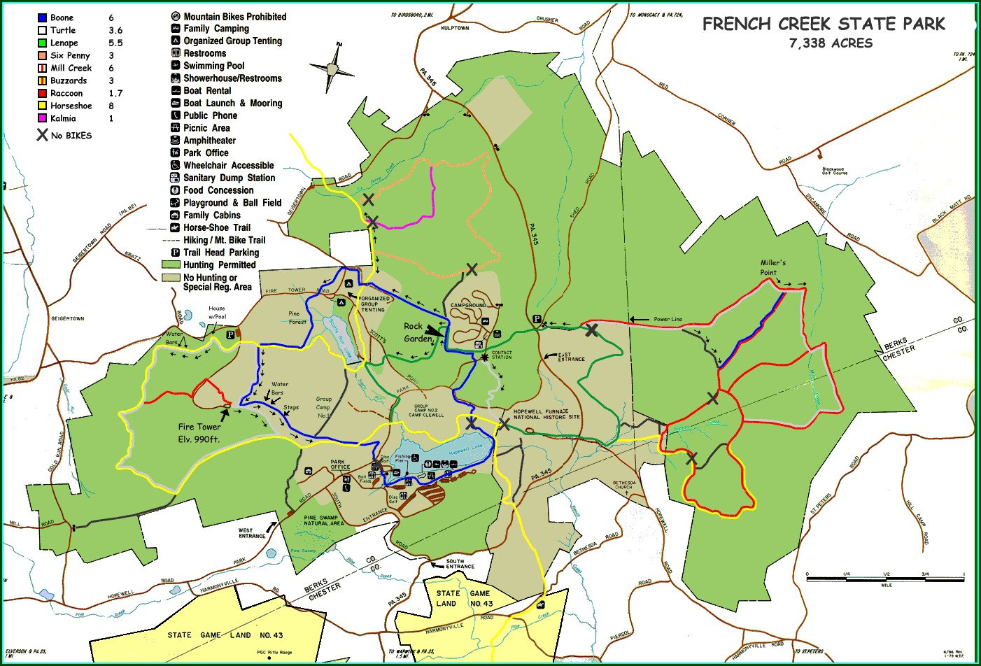 Raccoon State Park Trail Map