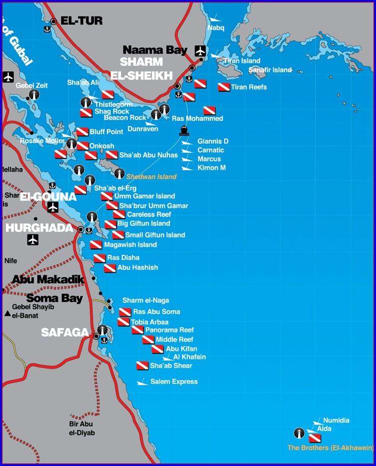 Raja Ampat Dive Sites Map