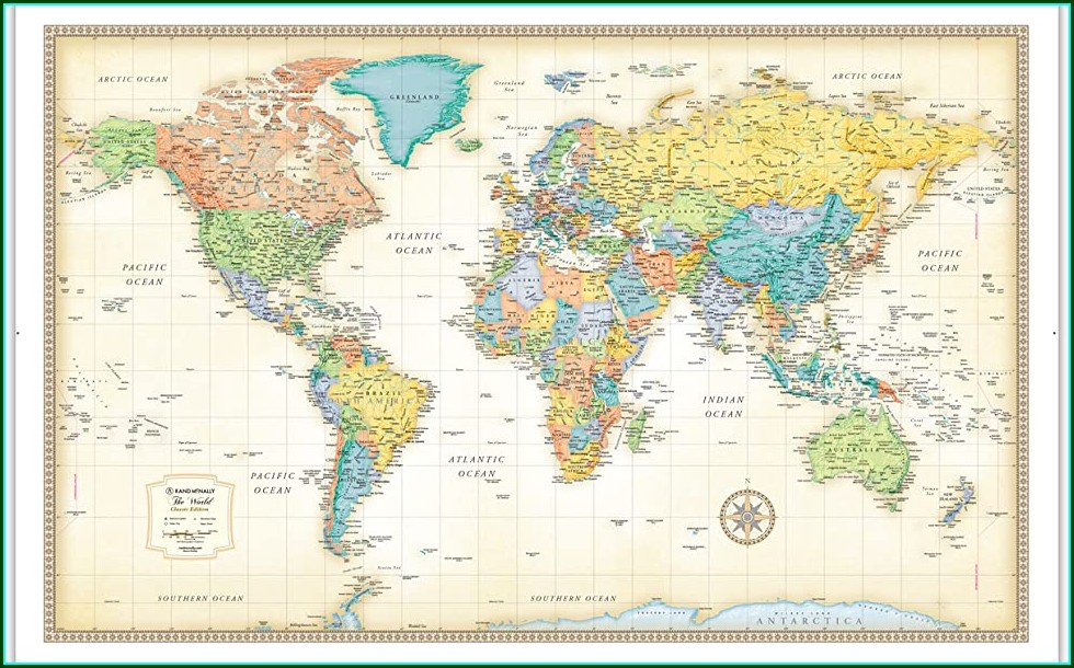 Rand Mcnally Classic World Wall Map Laminated