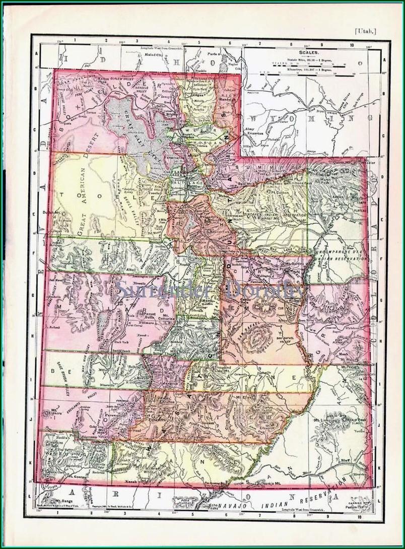Rand Mcnally Utah State Map