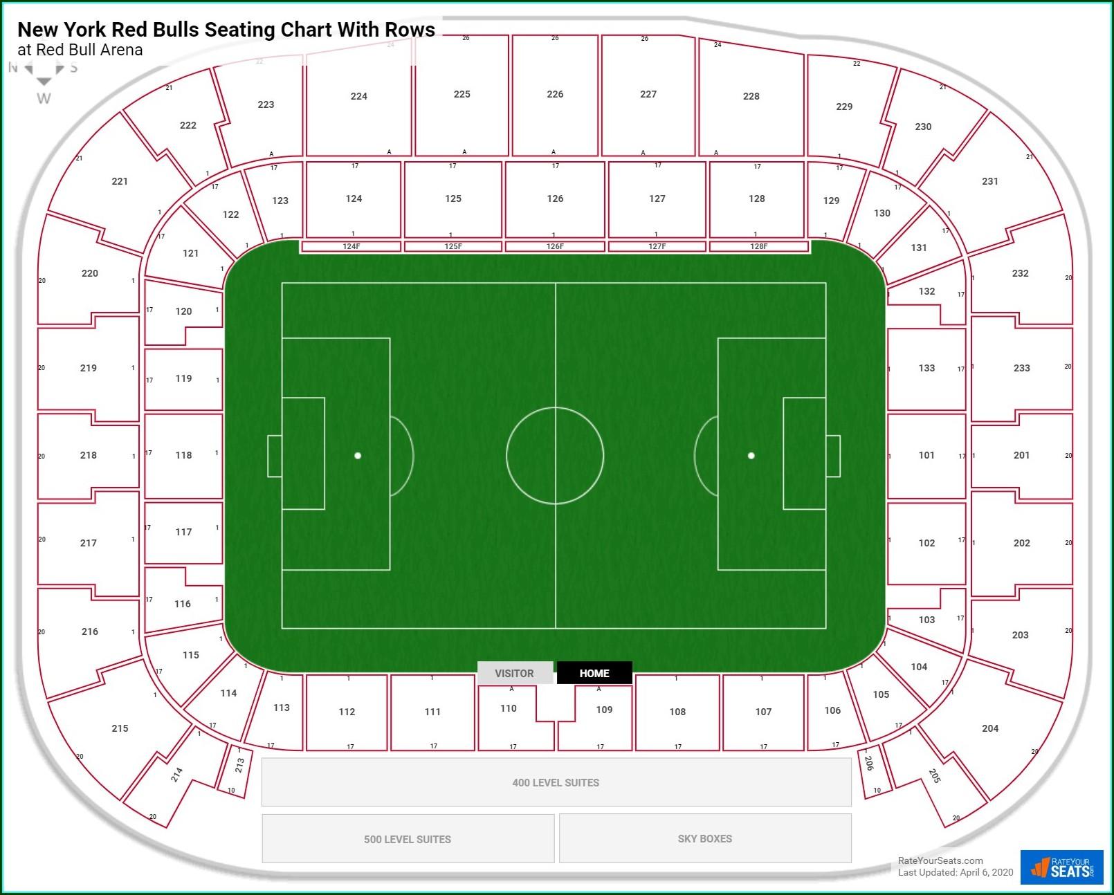 Red Bulls Stadium Map