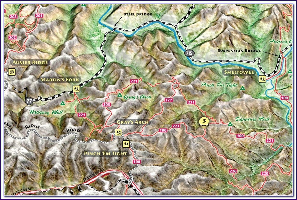 Red River Gorge Topo Map